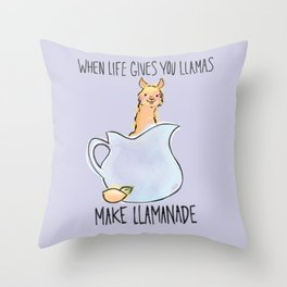Llamanade Throw Pillow
