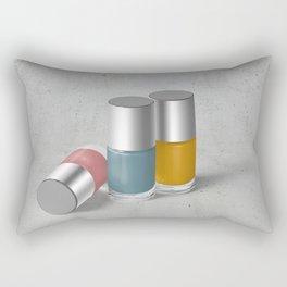 Pantone nail polish Rectangular Pillow