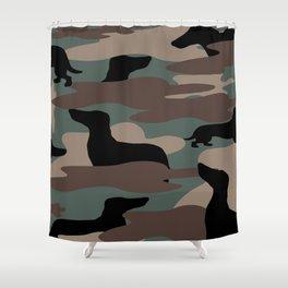 Camo Weiner Dogg Shower Curtain