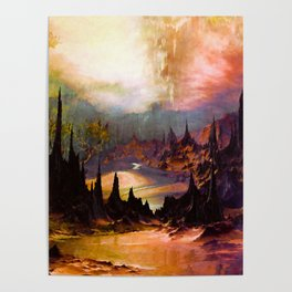 Outlandish peaks and valleys Poster