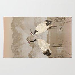 Wintering Manchurian Cranes Rug