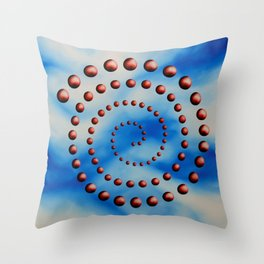 Spiral reincarnation oil painting Throw Pillow