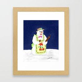 Baker Snow Woman Framed Art Print