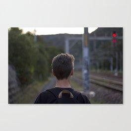 Walking the tracks Canvas Print