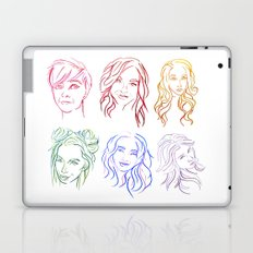 Rainbow Minimal Portraits Laptop & iPad Skin