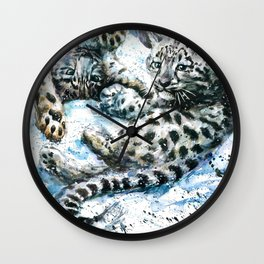 Snow leopards Nice Chap Wall Clock