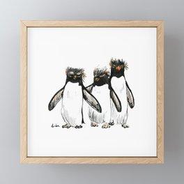 Macaroni Penguin Gang Framed Mini Art Print