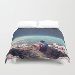 My World Blossomed when I Loved You Duvet Cover
