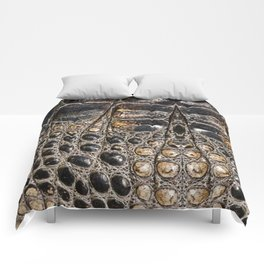 American alligator Leather Print Comforters