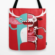 All monsters are the same! Tote Bag