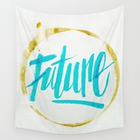 future Wall Tapestries featuring Future by GabrieleCigna
