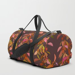 Beautyberry on Purple Duffle Bag