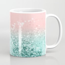 Summer Vibes Glitter #4 #coral #mint #shiny #decor #art #society6 Coffee Mug