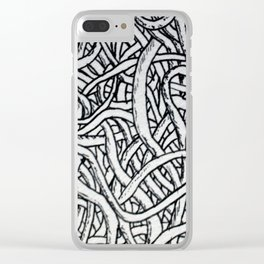Noodles or Worms Clear iPhone Case