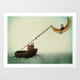 Night Fisher Art Print