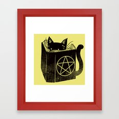 Witchcraft Cat Framed Art Print