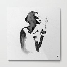 Smoker (Ink Painting) Metal Print