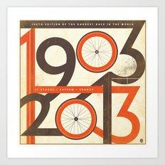 100 Years of The Tour de France Art Print