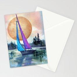 Sailing Lake Superior by Maureen Donovan Stationery Cards