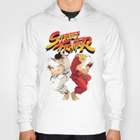 street fighter Hoodies featuring Street Fighter by Zanderillos