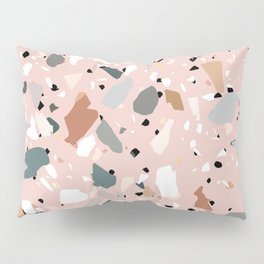 pale pink terrazzo with neutral flecks Pillow Sham