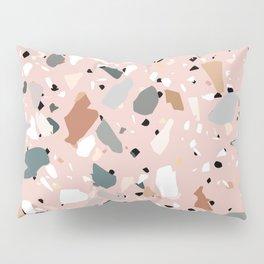 pale pink terrazzo with neutral flecks Pillow Sham