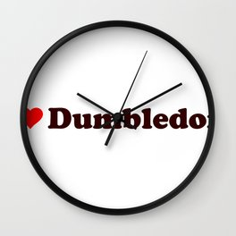 I heart Dumbledore Wall Clock