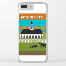 Lexington, Kentucky - Skyline Illustration by Loose Petals Clear iPhone Case
