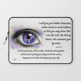 Galaxy eye - Isaiah 45, 3 Laptop Sleeve
