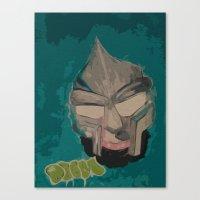 mf doom Canvas Prints featuring MF DOOM by Rashida Chavis