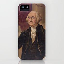 Vintage Portrait of George Washington (1876) iPhone Case