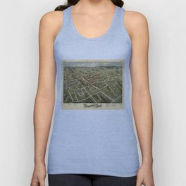Vintage Map of Danbury Connecticut (1875) Unisex Tank Top
