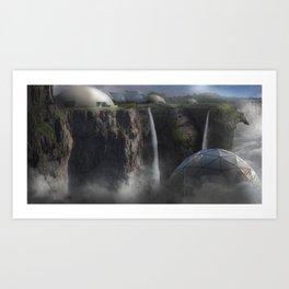 MOUNTAIN TOP Art Print
