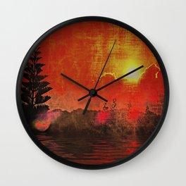 Oriental Landscape Wall Clock