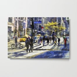 East 42nd Street Van Gogh Metal Print