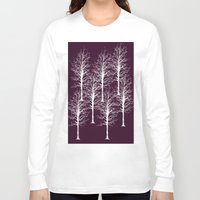 forrest Long Sleeve T-shirts featuring Ghost Forrest by Helle Gade