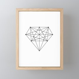 Geometric Diamond black-white poster design lowpoly fashion home decor canvas wall art Framed Mini Art Print