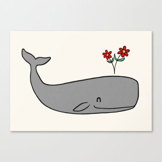 Peace Whale  Canvas Print