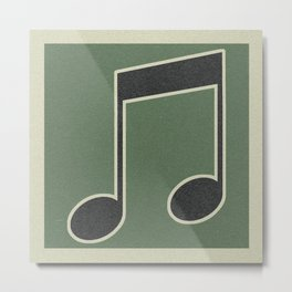 eigths note green Metal Print