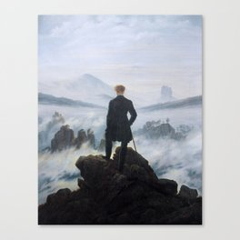 Wanderer above the Sea of Fog (High Resolution) Canvas Print