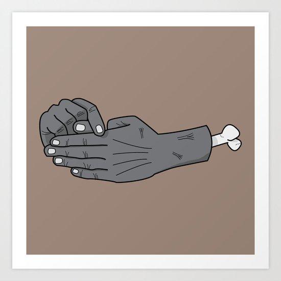 zombie trick Art Print