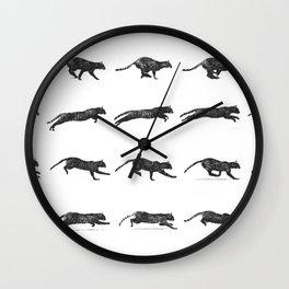 Cat Jump Wall Clock