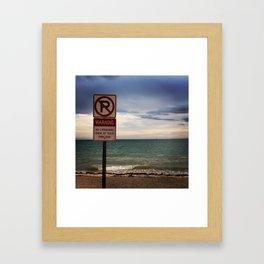 Swim at Your Own Risk Framed Art Print