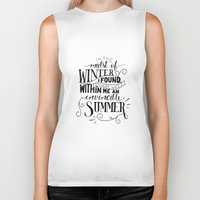 camus Biker Tanks featuring Albert Camus - In the Midst of Winter by Amber Serene