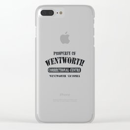 Property of Wentworth Clear iPhone Case