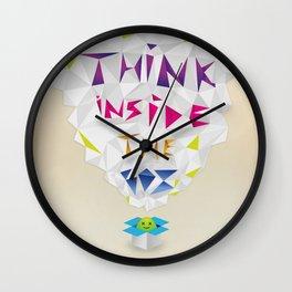 Think inside the box Wall Clock
