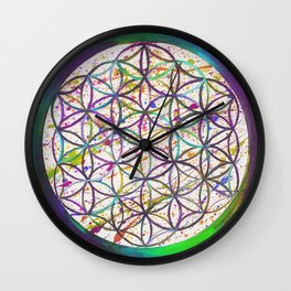 Flower of Life I Wall Clock
