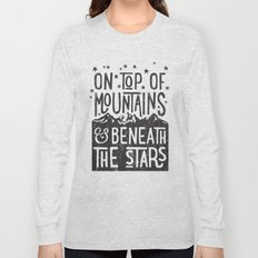 on top of mountain and beneath the stars Long Sleeve T-shirt