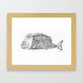 Fish Scale Building Framed Art Print