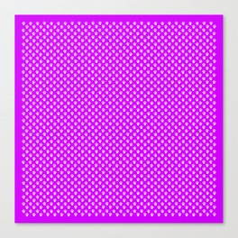 Tiny Paw Prints Pattern - Bright Magenta and White Canvas Print